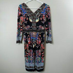 NWT eci New York Colorful Print Dress